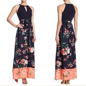 Vince Camuto Floral Maxi Dress Sz 2